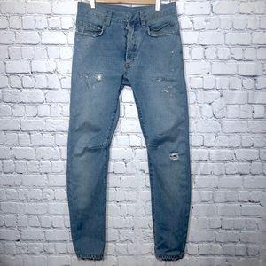 Balmain Christophe Decarnin Era Distressed Jeans